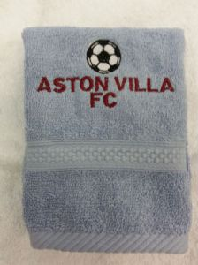 ASTON VILLA PERSONALISED FACE CLOTH